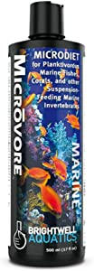 Brightwell Aquatics Microvore - Microdiet for Planktivorous Marine Fishes, Corals and Other Invertebrates, 250 ml