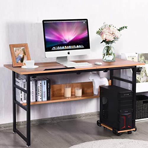 Tangkula 55 Inch Computer Desk