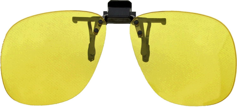 Medipaq ® pareja de Levante Clip En Conducción Nocturna Lentes - Caben En Cualquier Par De Gafas / Gafas - Conducir Con Más Seguridad En La Oscuridad ...