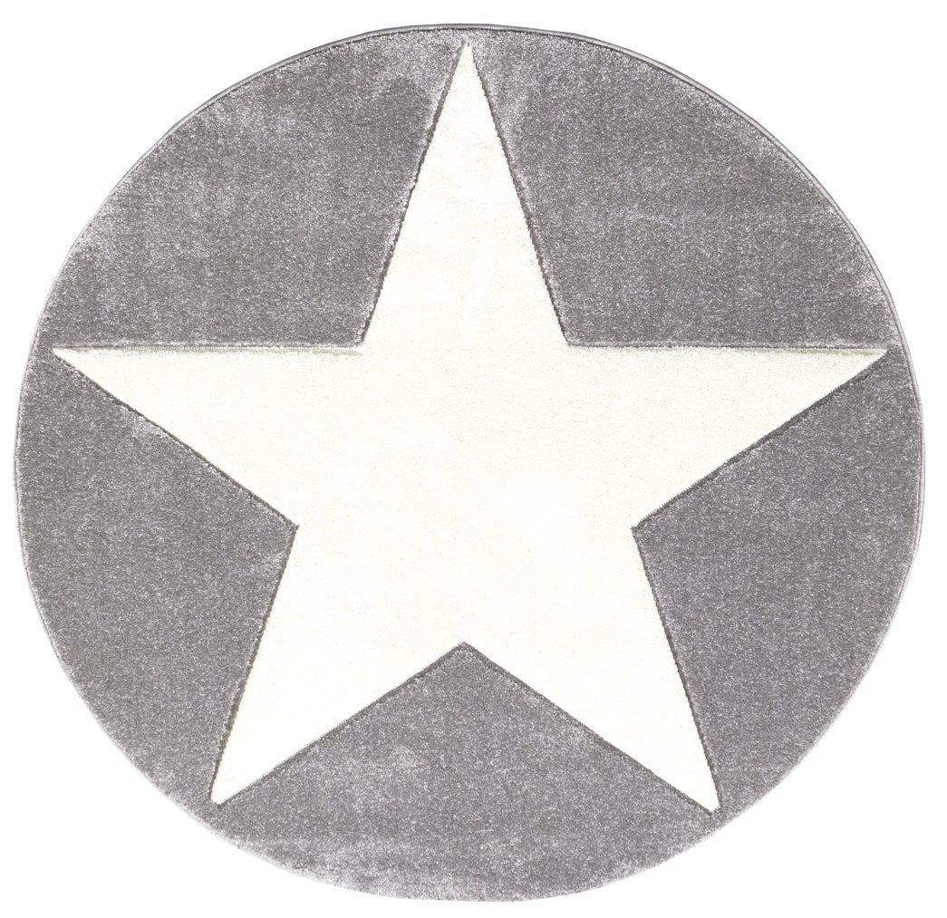 Verschiedene Kinderteppich Sammlung Von Concept.de: Livone Hsuperby Rugs Star Silbergrau/weiß 160cm