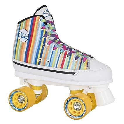 HUDORA Rollschuhe Roller-Skates Candy Stripes, Disco-Roller, Gr. 40, 13054