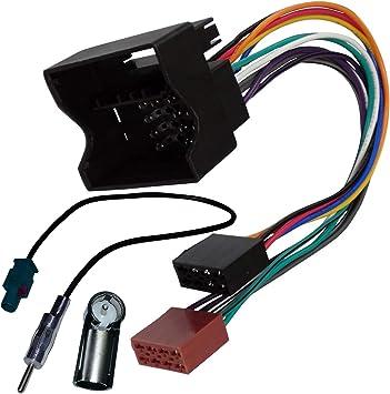 AERZETIX: Adaptador con ISO cables enchufes y antena para autoradio C2010C2830C1871
