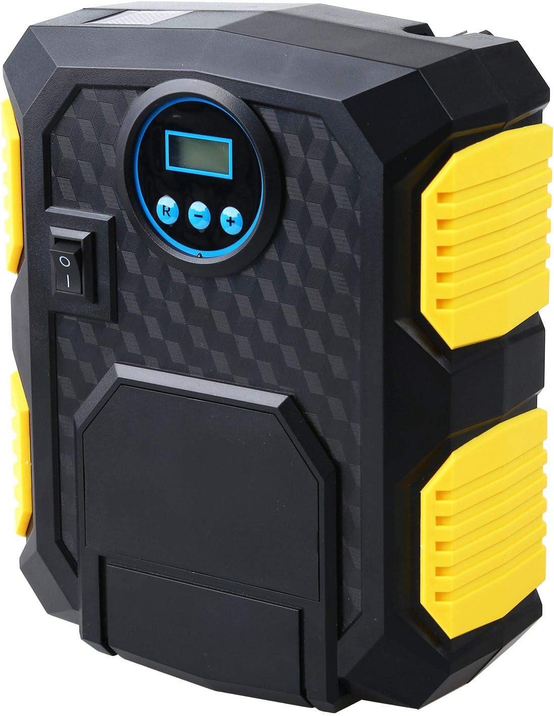 YHCHONGQENB Bomba portátil Digital del neumático del Coche de 12V Digital neumático del compresor de Aire eléctrico automático