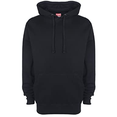 Amazon.com: FDM Unisex Plain Original Hooded Sweatshirt / Hoodie ...
