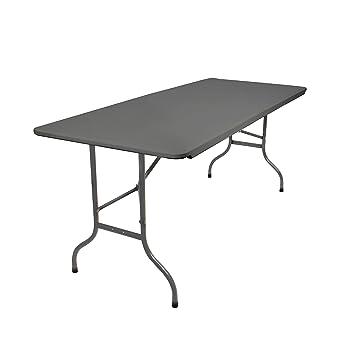 Amazon.de: Vanage Klapptisch in grau/anthrazit - Gartentisch mit ...