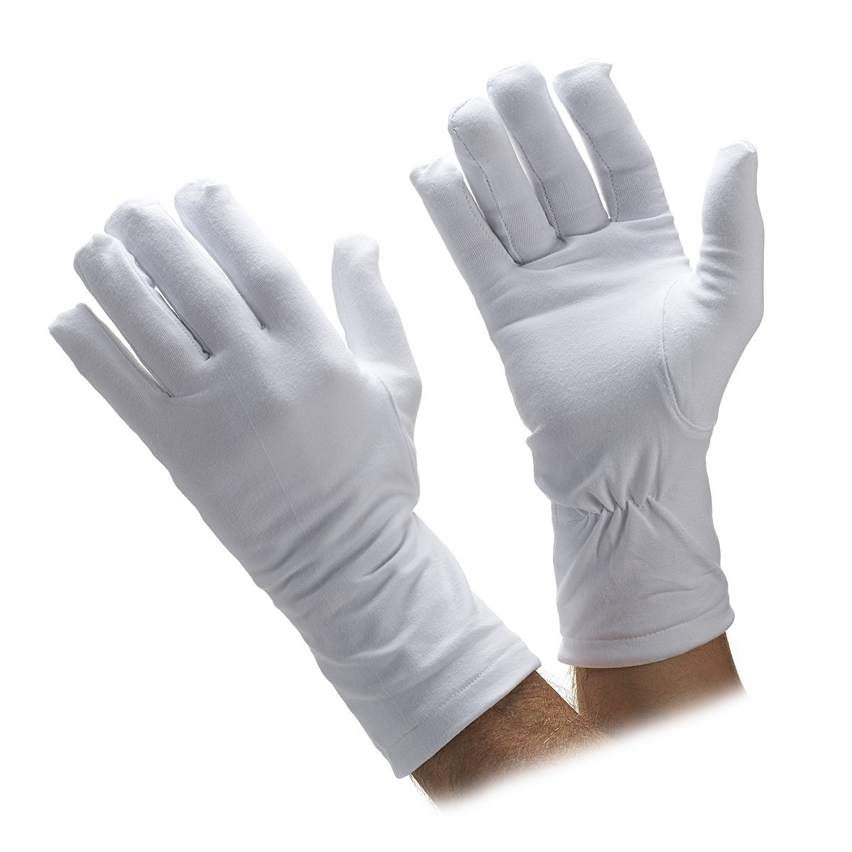 Honor Guard Heavy Cotton Winter Parade Lined Gloves (Men's S-M)
