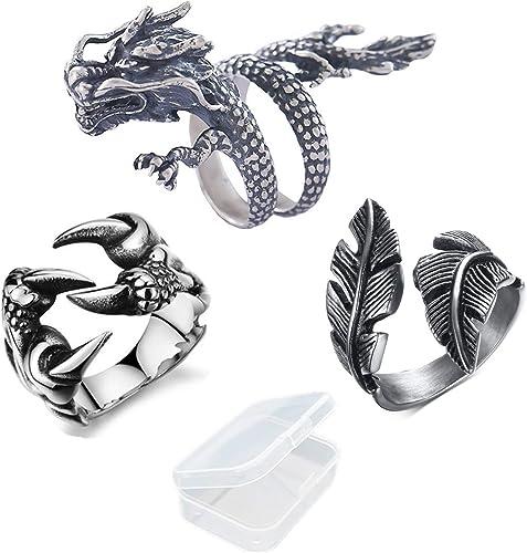 Kreative Pers/önlichkeit Einstellbare Drachen Stil Ring M/änner Frauen Schmuck Er/öffnung Ringe