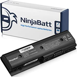 NinjaBatt Laptop Battery for HP MO06 699468-001 671731-001 672412-001 TPN-W106 HSTNN-LB3P HSTNN-LB3N HSTNN-YB3N HSTNN-UB3N TPN-W108 TPN-W109 671567-321 – High Performance [6 Cells/4400 mAh/49 Wh]