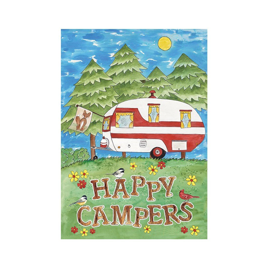 Amazon.com : Accent Flag Camping Fun Garden flags decorative flags ...