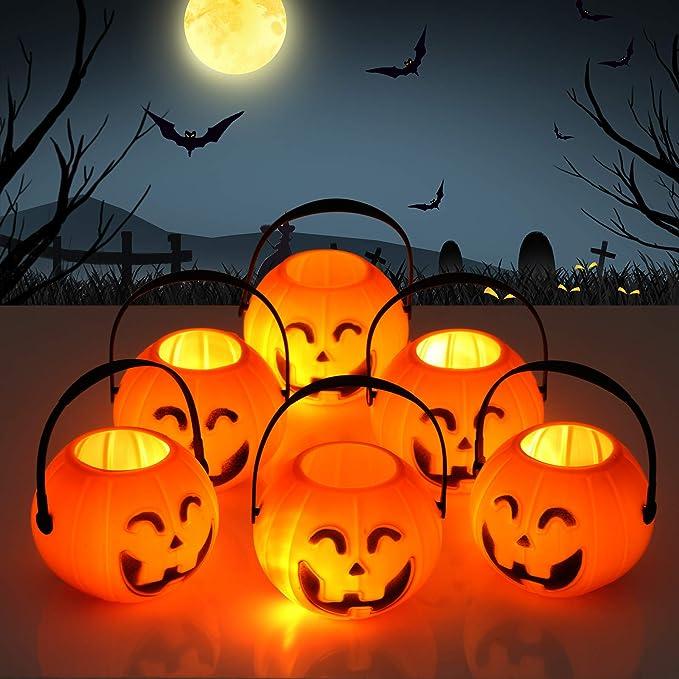 6 St/ück S/ü/ßigkeiten Eimer Halloween Party Deko Kesote Halloween K/ürbis Eimer