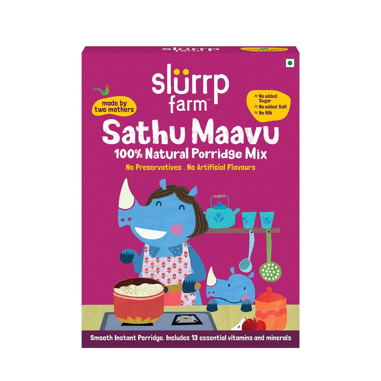 Slurrp Farm Sathu Maavu, 100% Natural Health Mix | Healthy Wholesome Food, 200g