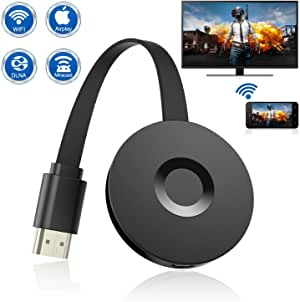 Wireless Display Dongle, WiFi Portable Display Receiver for TV Projector, 1080P HDMI Digital TV Adapter, Support Airplay DLNA Miracast, Compatible with iOS/Android Smartphones/Mac/Laptop