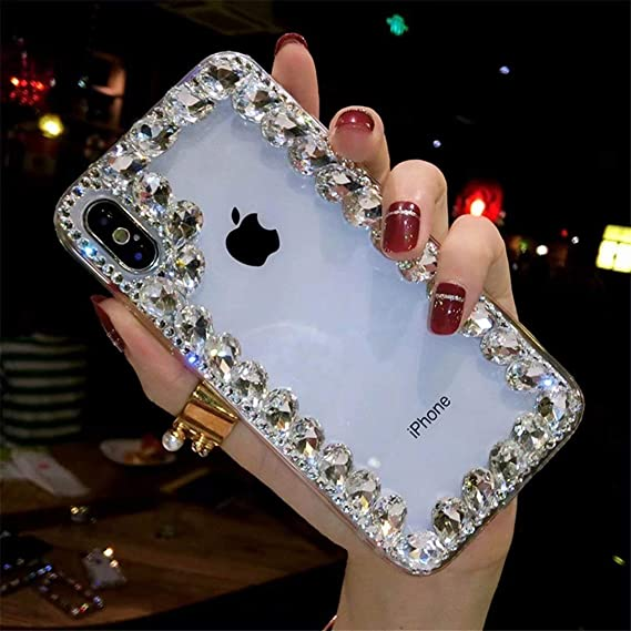 on sale 898cb 4758d Amazon.com: Xiaomi Redmi Note 5 Pro Crystal Diamond Case, 3D ...