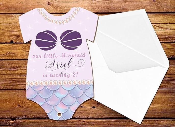 amazon com mermaid birthday invitations under the sea birthday