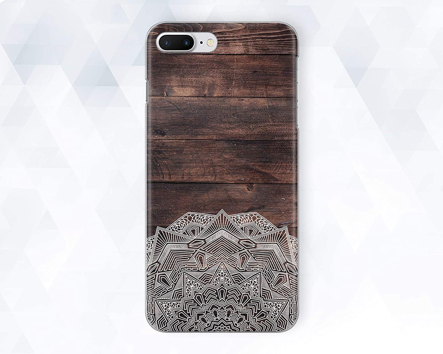Old Vintage Wood Mandala Phone Case For iPhone 6 6s Plus 7 8 Plus Xs Max XR 10 Case Cover For Samsung Galaxy Note 8 9 S6 S7 S8 S9 Plus Edge