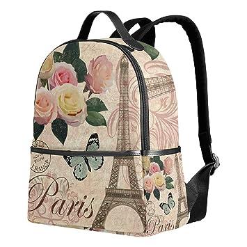 b1181202eb7f Paris Eiffel Tower Backpack for Women Teen Girls Purse Fashion Bag Bookbag Children  Travel College Casual