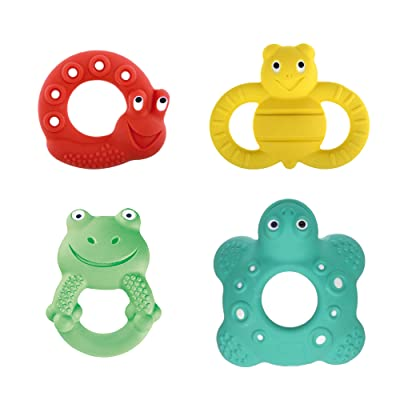 MAM Baby Toys, Teething Toys, Lucy the Snail, Ellie the Bee, Max the Frog, and Bob the Turtle, 100% Natural Rubber Developmental Teether Toys, 'Friends' Collection, 2+ to 5+ Months, Unisex, 4-Count : Baby