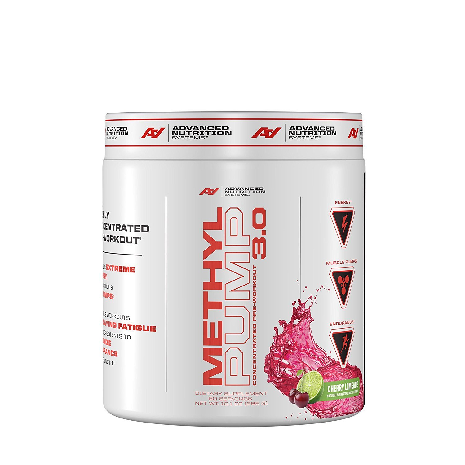 Advanced Nutrition Systems Methyl Pump Concentrated Pre-Workout 3.0 - Cherry Limeade by Advanced Nutrition Systems (Image #1)