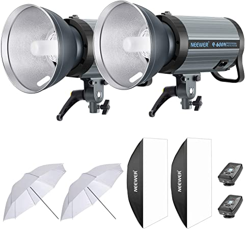 Neewer 1200W Studio Strobe Flash Photography Lighting Kit