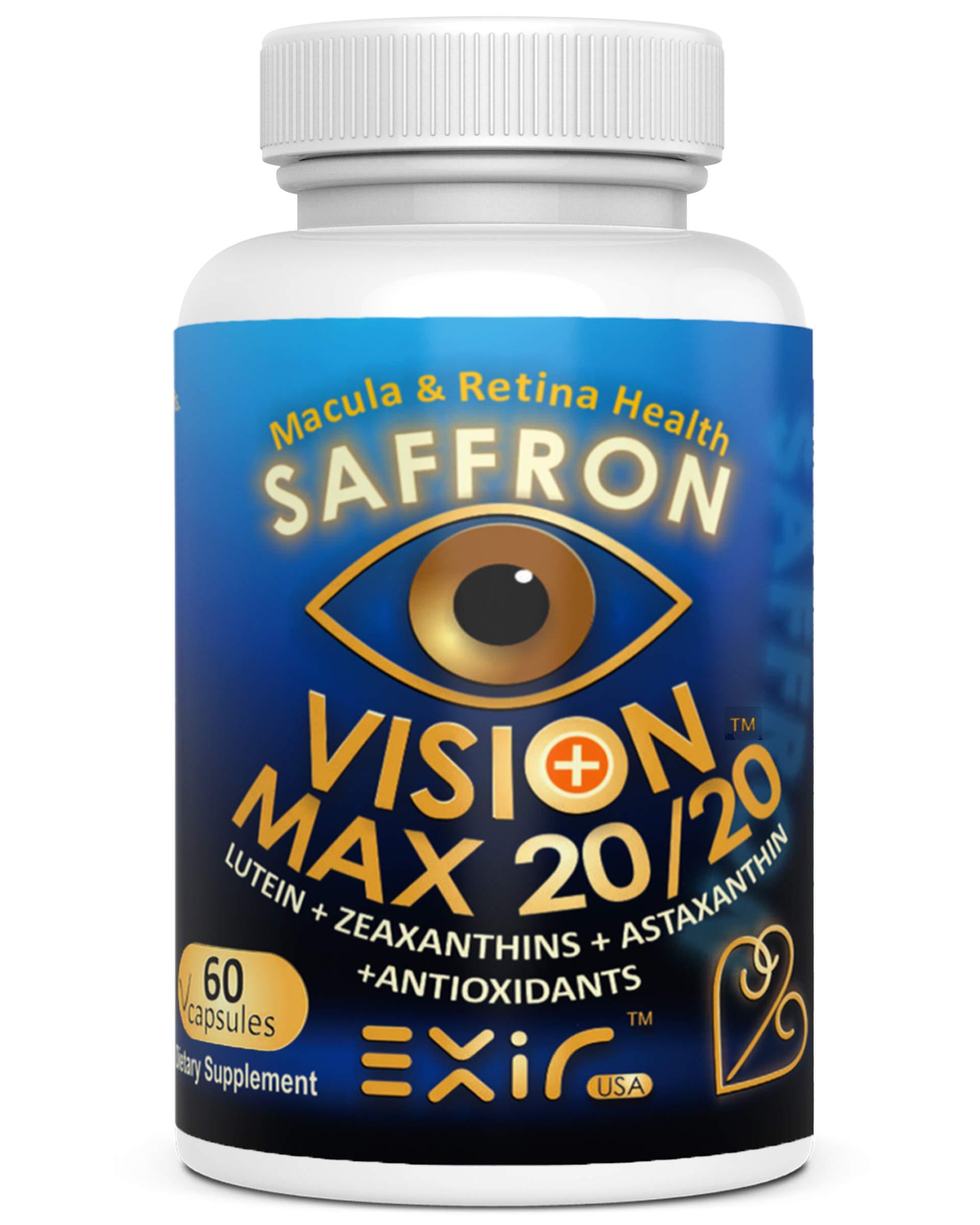 High Potency Saffron, Lutein, Meso-Zeaxanthin, Zeaxanthin, Astaxanthin, Proanthocyanidins, Curcuminoids, 60 Capsules by EXIR