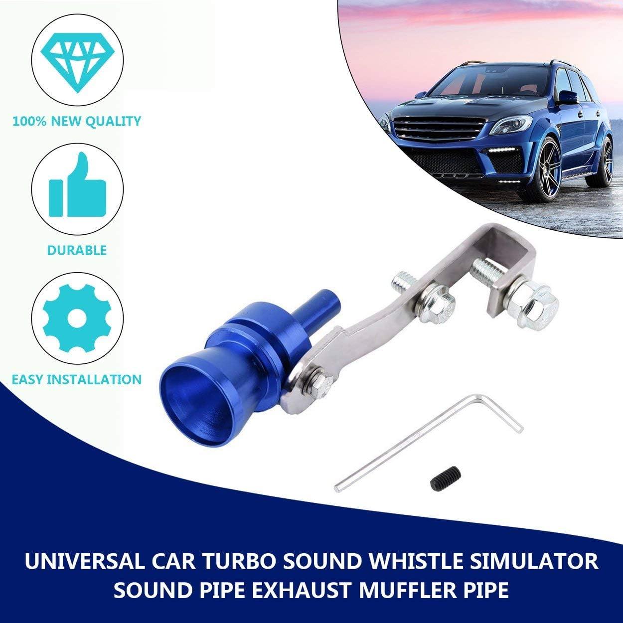 Lodenlli Universal Aluminium Cars Auto BOV Turbo Sonido Silbato Tubo Simulador de Sonido Tubo Tubo de silenciador de Escape Tubo