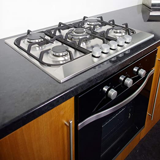 Cooke Lewis Clgh1ss C 5 Burner Stainless Steel Effect Gas
