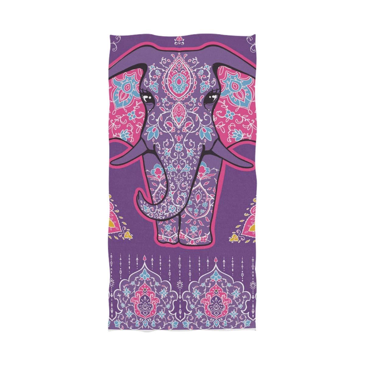 Ahomy Mandala - Toalla de baño (81 x 162 cm), diseño de Elefante: Amazon.es: Hogar