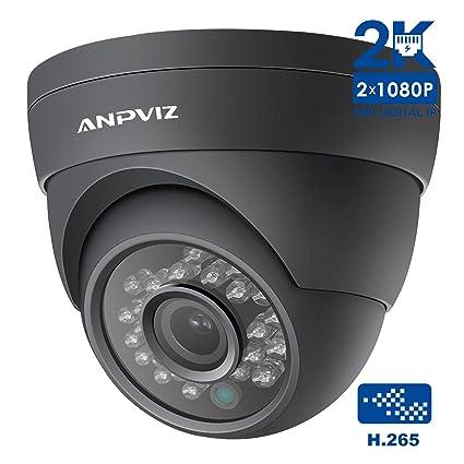 Cámara IP, cámara de seguridad Anpviz 4MP PoE con Super HD 2K, interior /