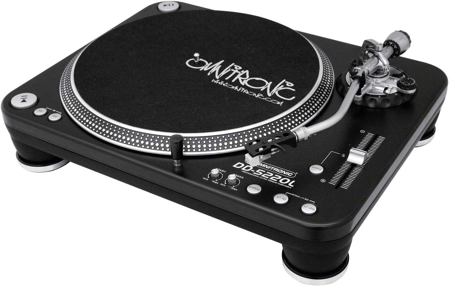 Omnitronic DD-5220L 057.295 Platinum, negro: Amazon.es ...