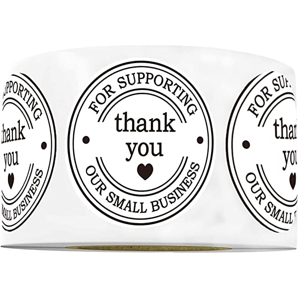 ARDA 2000 Pieces Thank You Stickers Roll 1 Logo Stickers for Small Business 12 Types Different Design Small Business Supplies Personalized Label Stickers Thank You Sticker
