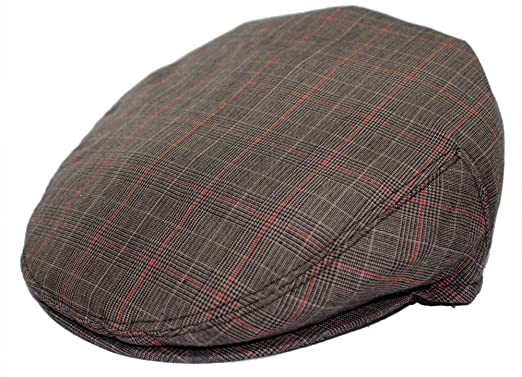 Mens Plaid Golfing Beret Summer Flat Ivy Ascot Cabbie Cap Hat Ivy Newsboy  (Small 30bf858947e