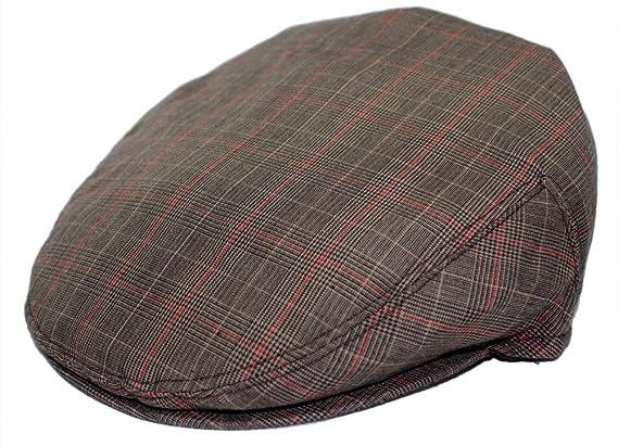 Mens Plaid Golfing Beret Summer Flat Ivy Ascot Cabbie Cap Hat Ivy Newsboy  at Amazon Men s Clothing store  7e0110cb3d49