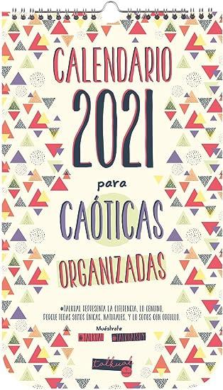 Finocam - Calendario de pared 2021 Talkual Español: Amazon.es: Oficina y papelería