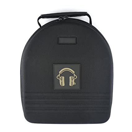 Headphones Full Size Hard Shell Large Carrying Case / Headset Travel Bag  with Space for Cable, AMP, Parts and Accessories (Fit Audio-Technica ATH  M10,