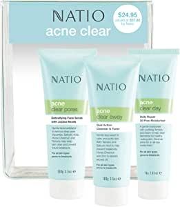 Natio Acne Clear 3 Piece Starter Pack
