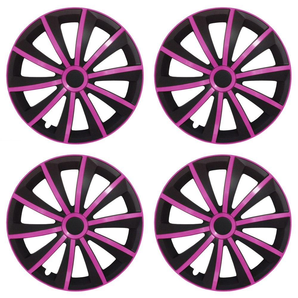 Amazon.es: Tapacubos / embellecedores de rueda Gralo mate (negro- plateado) apto para casi todos los tipos de vehículos (universal)
