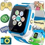 Smartwatch for Kids-TURNMEON Juego Infantil Reloj Inteligente para niñas Niños Niños Regalos de cumpleaños de Navidad con Llamadas SOS Juguetes electrónicos de Aprendizaje (Polvo Blanco)