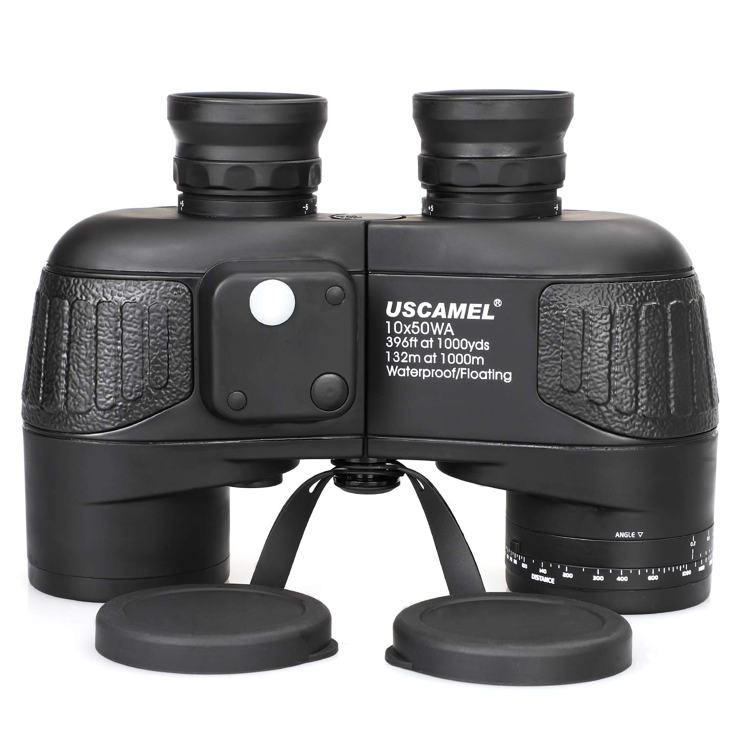 USCAMEL 10x50 Marine Binoculars for Adults, Military Binoculars Waterproof with Rangefinder Compass BAK4 Prism FMC Lens Fogproof for Navigation Birdwatching Hunting ... (10x50) by USCAMEL