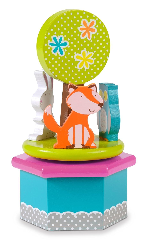 Fiesta Crafts Woodlands Animals Musical Box