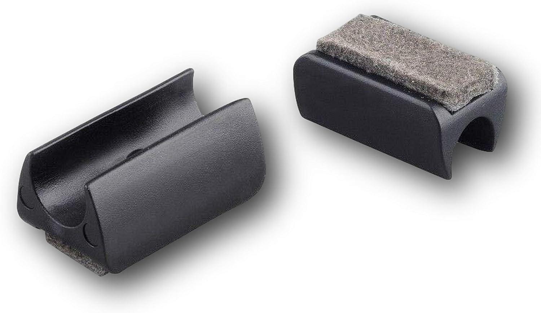 con fieltro negro 4 abrazaderas de deslizamiento de pl/ástico para tubos redondos