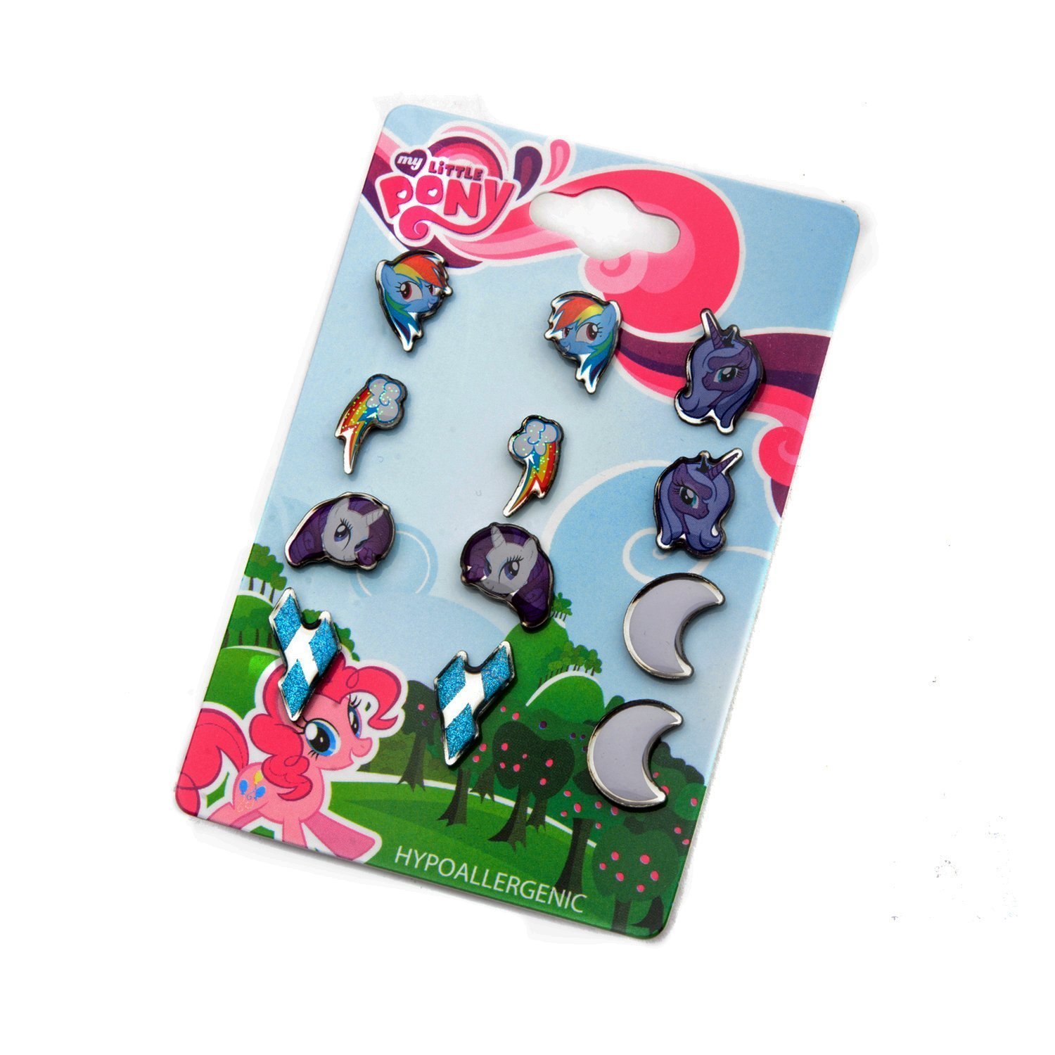 MY LITTLE PONY SURGICAL STAINLESS STEEL EARRINGS 6 PACK Sales One MLPER026A