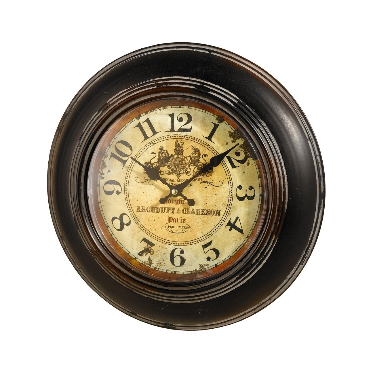 Amazon.com: Antique Reproduction Paris Perfumers Wall Clock ...