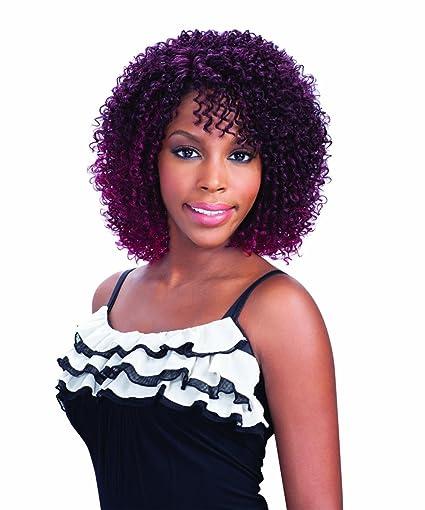Freetress Equal Mimi Peluca invisible lace front por N Shake Go sintéticas pelo rizado, talla