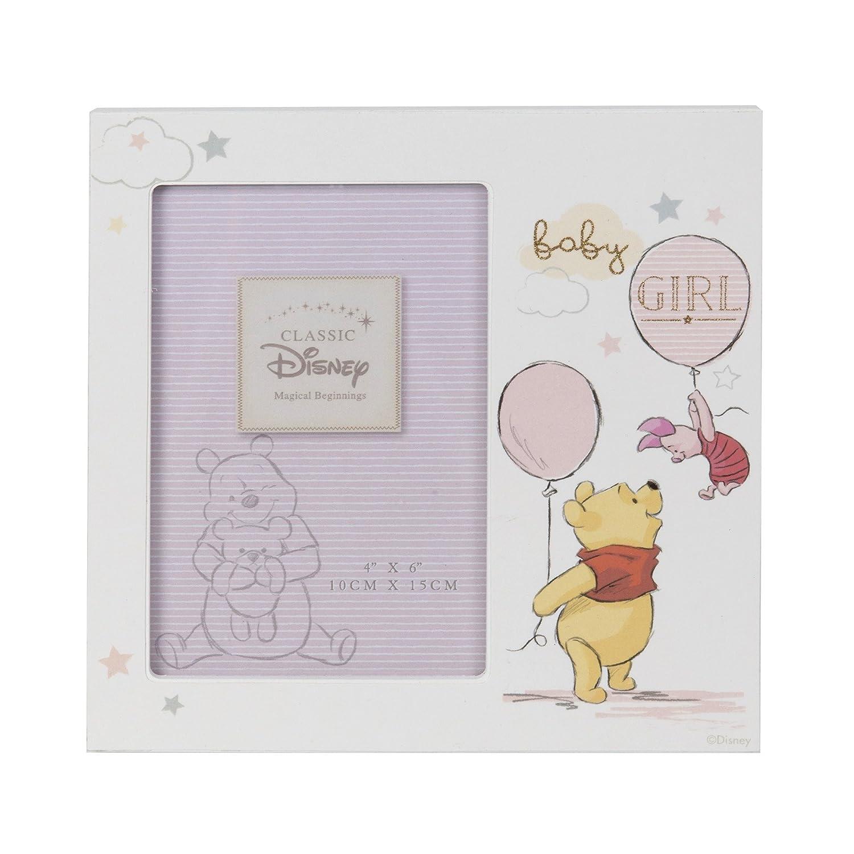 /Pooh Baby Girl Disney magische Anf/ängen MDF Rahmen 10,2/x 15,2/cm/
