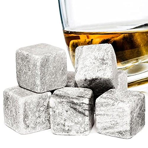 Hyfive Whiskey Stones Reusable Drink Cooler for Whisky, Wine, Vodka Granite Stone Pack of 9