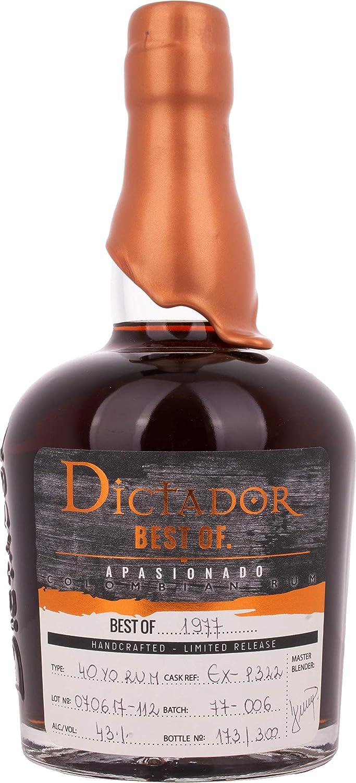 Dictador Dictador Best Of 1977 Apasionado Colombian Rum 40Yo ...
