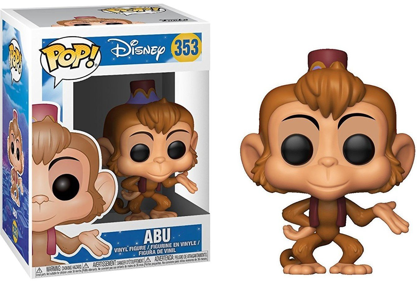 Funko Pop Abu Vinyl Figure Disney: Aladdin Bundled with Pop BOX PROTECTOR CASE