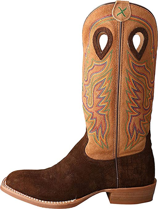 06841604c70 Twisted X Men's Ruff Stock Cowboy Boot Wide Square Toe - Mrs0045wrong