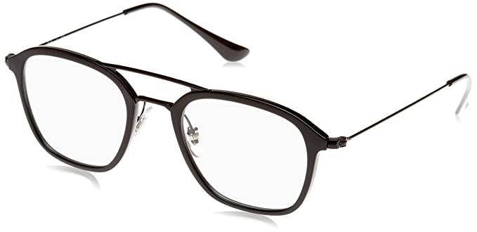 aea6c3d029f83 ... clearance ray ban mens rx7098 eyeglasses black 48mm 35028 852e6