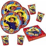 Sam Le Pompier - Fireman Sam - Party Set Plaques Tasse Serviettes Party Vaisselle 2